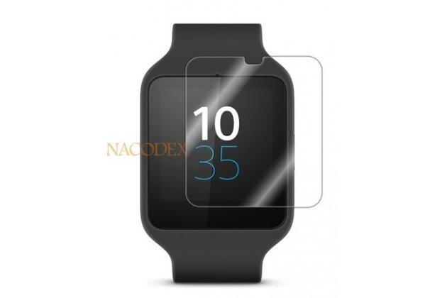 Фирменная оригинальная защитная пленка для умных смарт-часов Sony SmartWatch 3 SWR50 глянцевая
