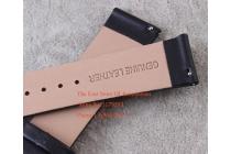 Фирменный сменный кожаный ремешок для умных смарт-часов LG G Watch W100 из качественной импортной кожи