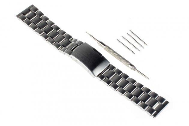 Фирменный сменный стальной ремешок для умных смарт-часов Samsung Gear 2 из нержавеющей стали с инструментами для вскрытия