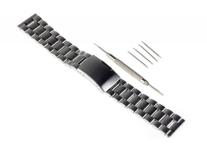 Фирменный сменный стальной ремешок для умных смарт-часов Samsung Gear 2 из нержавеющей стали с инструментами д..