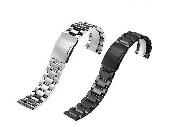 Фирменный сменный стальной ремешок для умных смарт-часов Samsung Gear S2 Classic R7320 из нержавеющей стали с ..