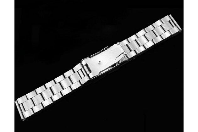 Фирменный сменный стальной ремешок для умных смарт-часов Samsung Gear S2 Classic R7320 из нержавеющей стали с инструментами для вскрытия