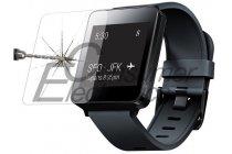 Фирменное защитное закалённое противоударное стекло премиум-класса из качественного японского материала с олеофобным покрытием для часов LG G Watch W100
