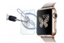 Фирменное защитное закалённое противоударное стекло премиум-класса из качественного японского материала с олеофобным покрытием для часов Apple Watch 38mm