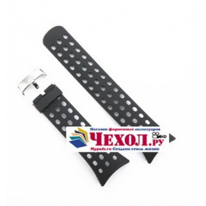 Фирменный необычный сменный силиконовый ремешок  для умных смарт-часов Suunto M5 черный