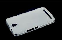 """Фирменная ультра-тонкая полимерная из мягкого качественного силикона задняя панель-чехол-накладка для TCL 3N /M2M/ M2U 5.5"""" белая"""