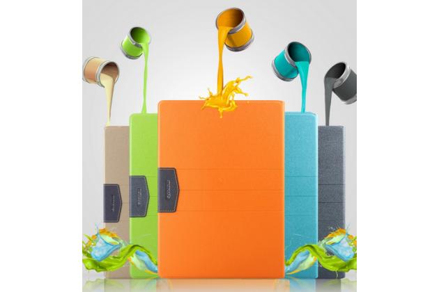 Фирменный чехол-обложка с мультиподставкой для Teclast P98 4G Octa Core зеленый  из водоотталкивающей кожи