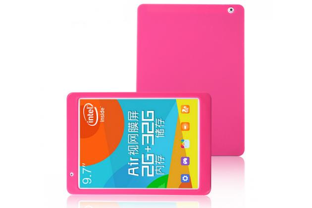 Фирменная ультра-тонкая полимерная из мягкого качественного силикона задняя панель-чехол-накладка для Teclast P98 4G Octa Core розовая