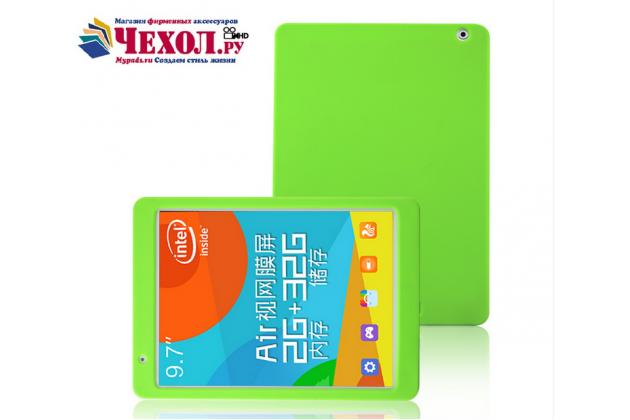 Фирменная ультра-тонкая полимерная из мягкого качественного силикона задняя панель-чехол-накладка для Teclast P98 4G Octa Core зеленая
