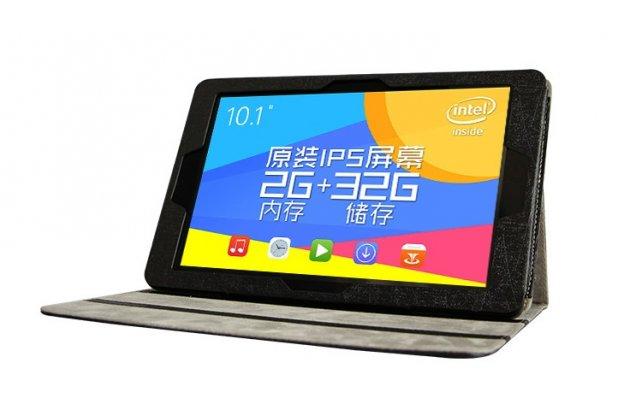Фирменный чехол-обложка с подставкой для  Teclast X10/ Teclast T98/ Teclast T98 4G черный кожаный