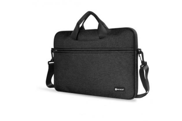Фирменный оригинальный чехол-клатч-сумка с визитницей для Teclast Tbook 16 Power / 16s из высококачественного материала черный