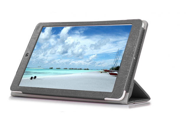 Фирменный чехол-футляр-книжка для Teclast X80/P80H/X80 Plus/P80/X80 Pro черный кожаный