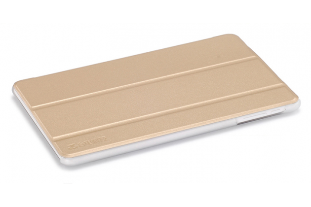 Фирменный умный чехол самый тонкий в мире для Teclast X80/P80H/X80 Plus/P80/X80 Pro iL Sottile золотой пластиковый Италия