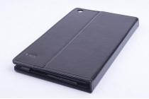 "Фирменный чехол-футляр-книжка для Teclast X80 / X80HD 8.0"" черный кожаный"