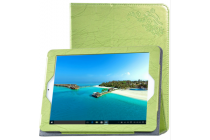 Фирменный чехол закрытого типа с красивым узором для планшета Teclast X98 Plus 2 (II) с держателем для руки зеленый натуральная кожа Prestige Италия
