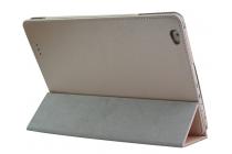 Фирменный чехол-футляр-книжка для Teclast X98 Plus 2 (II) золотой кожаный