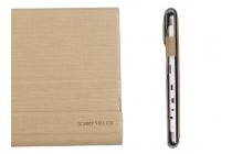 Фирменный оригинальный чехол для Teclast X98 Plus 2 (II) с отделением под клавиатуру коричневый кожаный