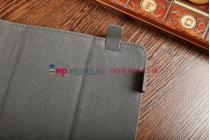 Чехол-обложка для TELEFUNKEN TF-MID801G синий с красной полосой кожаный