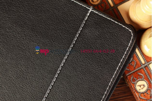 Чехол-обложка для  черный кожаный TELEFUNKEN TF-MID9704G