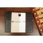 Чехол-обложка для TELEFUNKEN TF-MID1002G черный с серой полосой кожаный