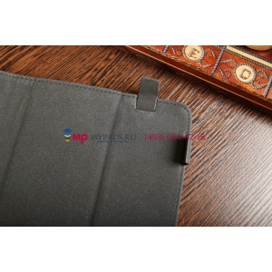 """Чехол-обложка для TELEFUNKEN TF-MID1006 черный кожаный """"Deluxe"""""""