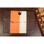 """Чехол-обложка для TELEFUNKEN TF-MID1006 коричневый кожаный """"Deluxe"""""""