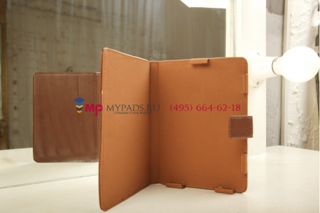Чехол обложка с подстветкой/лампой для teXet TB-504 кожаный. Цвет на выбор