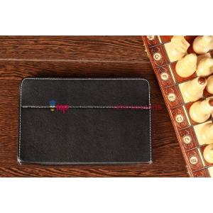 Чехол-обложка для TeXet TM-8041HD черный кожаный