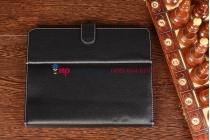 Чехол-обложка для TeXet TM-9741 черный кожаный