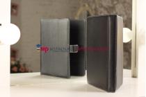 Чехол-обложка для TeXet TM-9747 черный кожаный