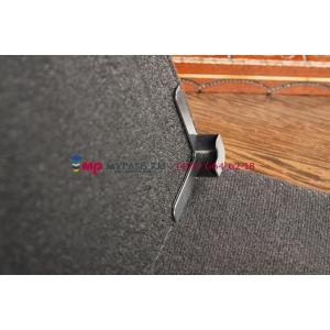 Чехол-обложка для TeXet TM-7024 черный кожаный