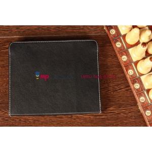 Чехол-обложка для TeXet TM-9748 черный кожаный