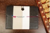 """Чехол-обложка для TeXet TM-9751HD черный кожаный """"Deluxe"""""""