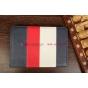 """Чехол-обложка для TeXet TM-9751HD синий кожаный """"Deluxe"""""""
