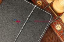 Чехол-обложка для TeXet TM-7045 черный кожаный