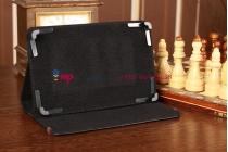 Чехол-обложка для TeXet TM-7855 3G черный кожаный