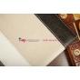 Чехол-обложка для TeXet TM-7855 3G черный с серой полосой кожаный