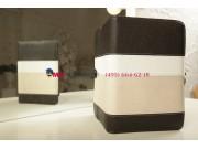 Чехол-обложка для TeXet TM-7855 3G черный с серой полосой кожаный..