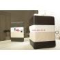 Чехол-обложка для TeXet TM-9750HD черный с серой полосой кожаный..