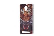 """Фирменная роскошная задняя панель-чехол-накладка с безумно красивым рисунком тигра на ThL T6c"""""""