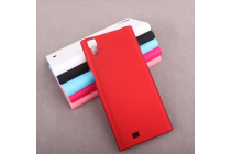 """Фирменная задняя панель-крышка-накладка из тончайшего и прочного пластика для ThL T100"""" красная"""
