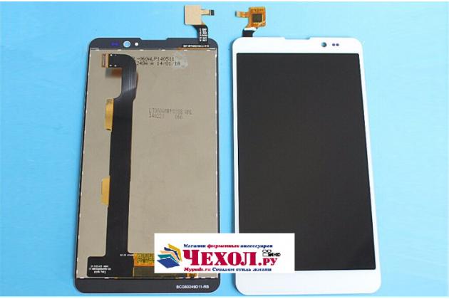 Фирменный LCD-ЖК-сенсорный дисплей-экран-стекло с тачскрином на телефон ThL T200 белый + гарантия