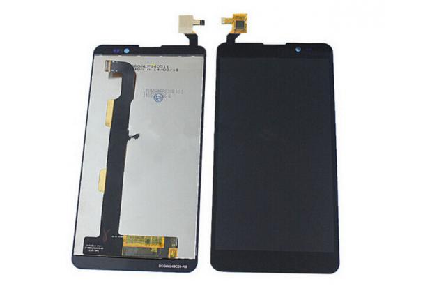 """Фирменный LCD-ЖК-сенсорный дисплей-экран-стекло с тачскрином на телефон ThL T200"""" черный"""