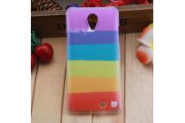 """Фирменная ультра-тонкая полимерная из мягкого качественного силикона задняя панель-чехол-накладка для ThL T5  тематика """"все цвета радуги"""""""