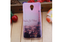 """Фирменная уникальная задняя панель-крышка-накладка из тончайшего силикона для THL T5""""  """"тематика Париж"""""""