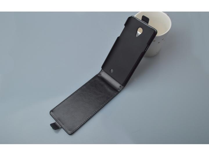 Фирменный вертикальный откидной чехол-флип для THL T5