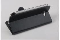 Фирменный оригинальный чехол-книжка для  ThL W200 черный водоотталкивающий