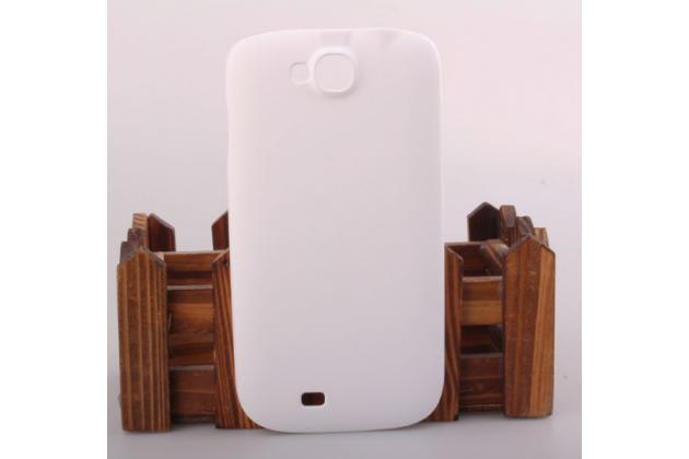 """Фирменная задняя панель-крышка-накладка из тончайшего и прочного пластика для ThL W8"""" белая"""