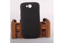 """Фирменная задняя панель-крышка-накладка из тончайшего и прочного пластика для ThL W8"""" черная"""