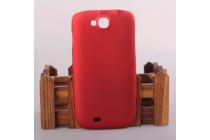 """Фирменная задняя панель-крышка-накладка из тончайшего и прочного пластика для ThL W8"""" красная"""